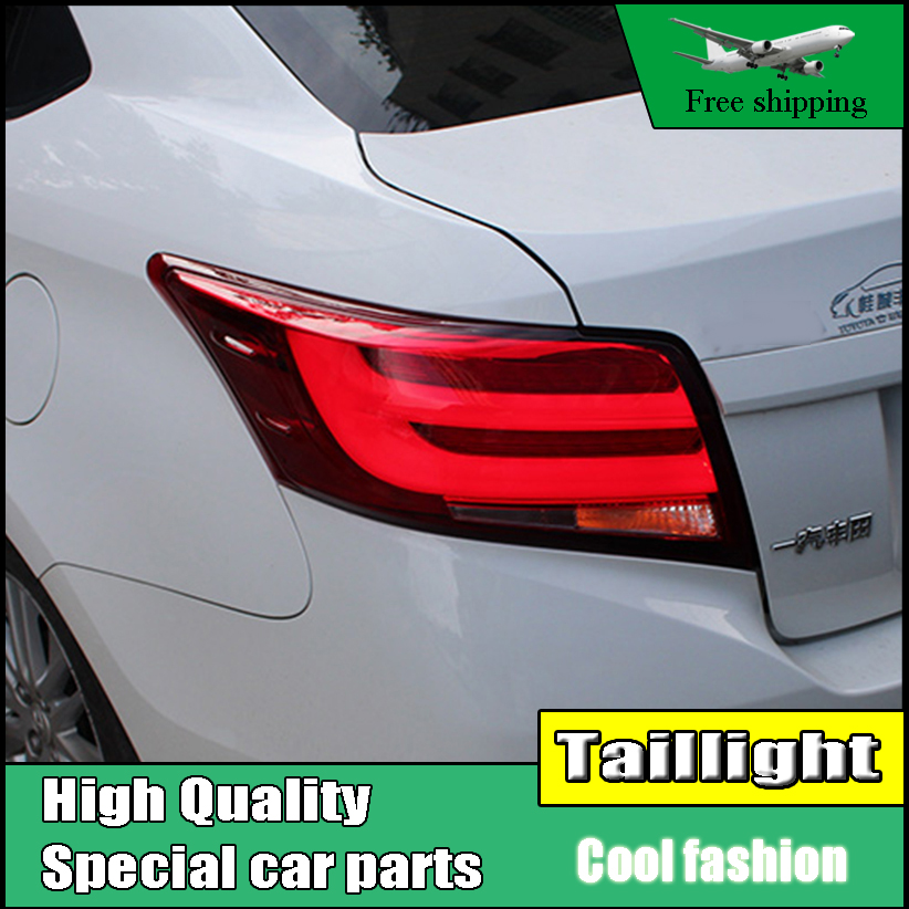 Car Styling Tail Light Case For Toyota Vios Taillights 2014-2016 LED Tail Lamp Rear Lamp DRL+Brake+Park+Signal led light car styling led tail lamp for toyota camry taillights 2012 2014 camry rear light drl turn signal brake reverse auto accessories