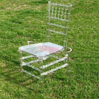 The wedding banquet chair hotel Transparent crystal chair