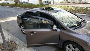 Image 5 - Car Window Visor Vent Ombra Deflettori Pioggia Sun Guard Copertura Per Honda Civic 2006 2007 2008 2009 2010 2011 4dr sedan Car Styling