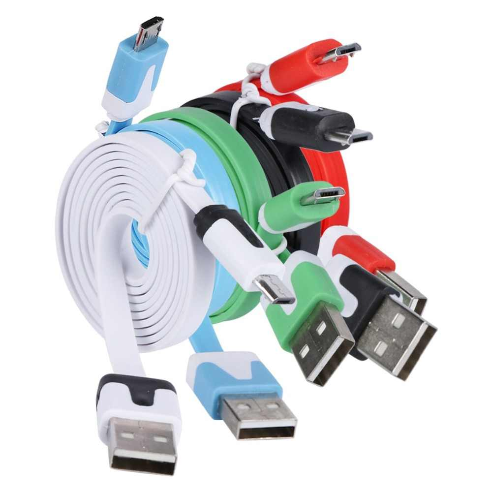 1M Flat Noodle Micro USB Charger Sync Data Cable Universal Charging Data Cable for Samsung Xiaomi Android Phones