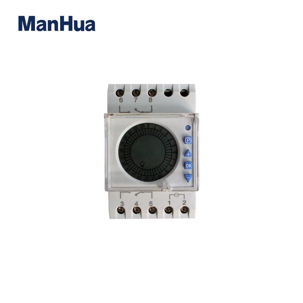Offen Manhua 16a 220vac Wöchentliche Timer Mit Transparent Abdeckung Mt191 Digital Timer Schalter Moderne Techniken Messung Und Analyse Instrumente