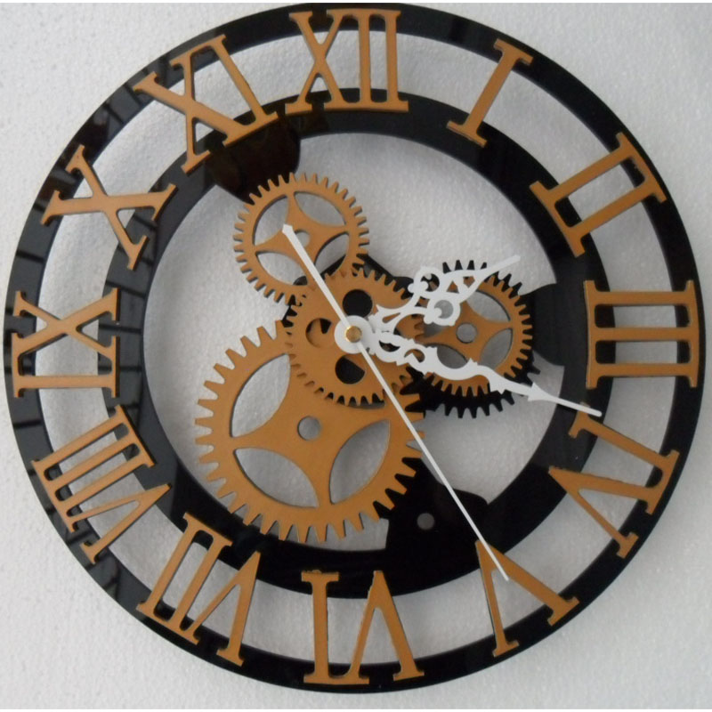 buy 3d wall clock saat clock duvar saati vintage digital wall clocks horloge. Black Bedroom Furniture Sets. Home Design Ideas