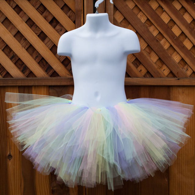 f18782897809 Pastel Unicorn Fluffy Tutu Skirt for Girls Fits Newborn to Young ...