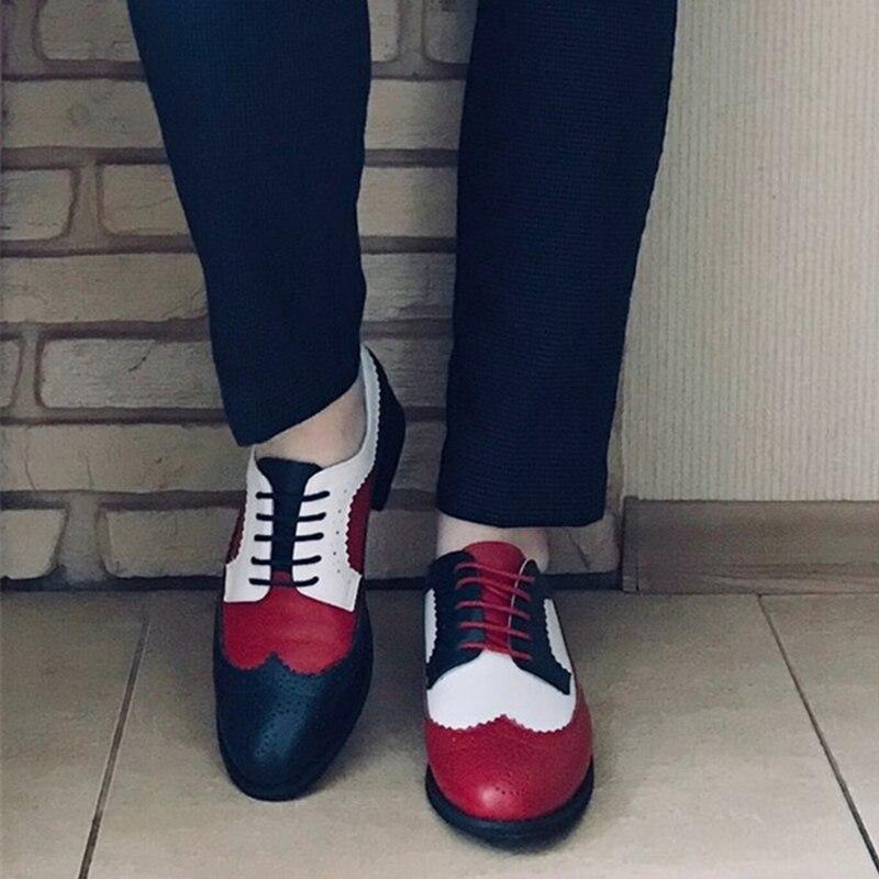 Femmes oxford printemps chaussures mocassins en cuir véritable pour femme baskets femme oxfords dames chaussures simples sangle 2019 chaussures d'été - 3