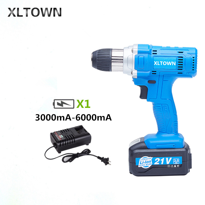 Xltown the new 21v Hand drill rechargeable lithium battery variable speed electric screwdrivers household power tools drill bitsXltown the new 21v Hand drill rechargeable lithium battery variable speed electric screwdrivers household power tools drill bits