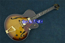 Wholesale instruments Sunburst Classic L-5 Jazz Guitar High Quality with Golden Hardware