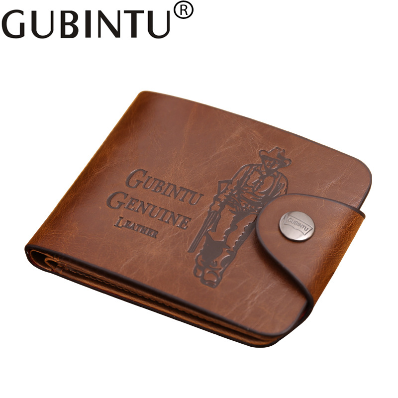 Classic Vintage Retro Male Hasp Hunter Brown Leather Wallet Purse Card Holder Clutch for Men 2017 vintage men hunter letters long brown pu leather wallet purse card holder clutch wallets gifts lt88