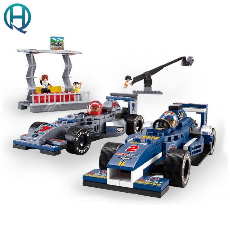 Sluban F1 Formula Racing Toy building blocks Boys Over 5 years old Intelligence Assembled Toys велосипед formula f 3000 оранжевый