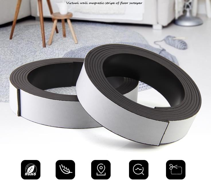 Virtual Protective wall For Neato Xiaomi MI JIA VR200 Lake Haier Boundary Markers Self adhesive Magnetic Flexible Magnet Stripe цена и фото