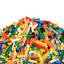 Zestawy klocków budowlanych 300 sztuk 500 sztuk 1000 sztuk legoings classic city creator kolorowe cegły DIY zabawki edukacyjne dla dzieci dla dzieci tanie tanio Unisex 6 lat Certyfikat 300-500-1000-2000 Bloki Choking hazard Plastic
