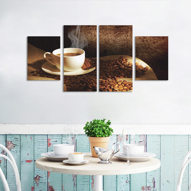 funlife coffee wall poster diy living room bedroom canvas wall paper decorative accessories modern design home - Bedroom Decorative Accessories