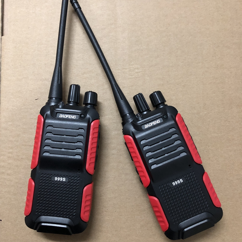 2pcs Baofeng BF 999S two way radio 1800mAh li ion battery 16CHl easy to operate Interphone Tansceiver for Security walkie talkie-in Walkie Talkie from Cellphones & Telecommunications