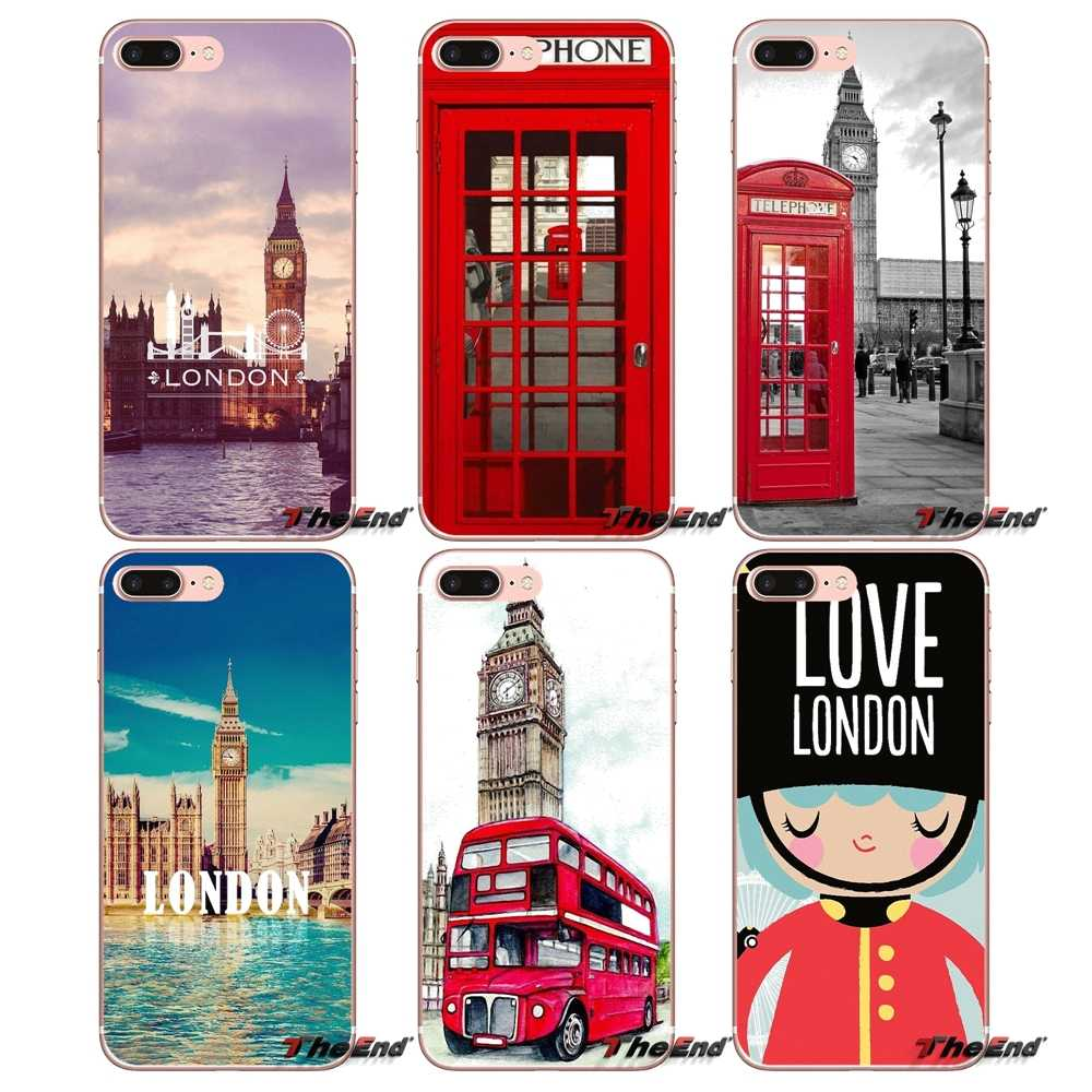 London big ben Bus Silicone Phone Bag Case For Samsung Galaxy S2 S3 S4 S5 MINI S6 S7 edge S8 S9 Plus Note 2 3 4 5 8 Coque Fundas