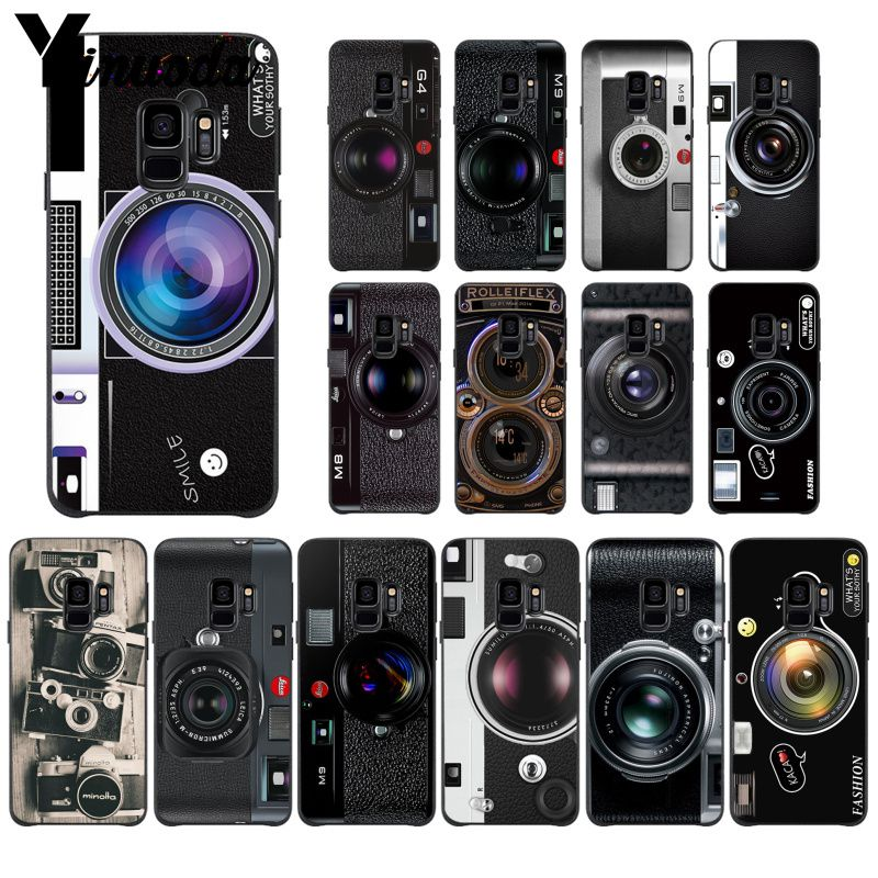 Yinuoda Retro Camera Colorful <font><b>Cute</b></font> <font><b>Phone</b></font> <font><b>Case</b></font> for <font><b>Samsung</b></font> Galaxy <font><b>S9</b></font> S20 S10 Plus S10E S6 S7 S8 <font><b>S9</b></font> S9Plus S5 image