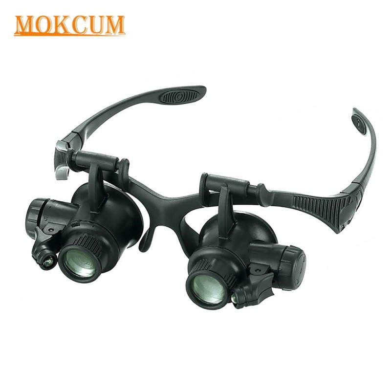 42e200f4def4c Profissional de Reparação do Relógio Lupa Óculos Eye Glasses Lupa de 10X  15X 20X 25X LED Luzes Jeweler Lupas Ferramentas de Reparo em Lupas de  Ferramentas ...