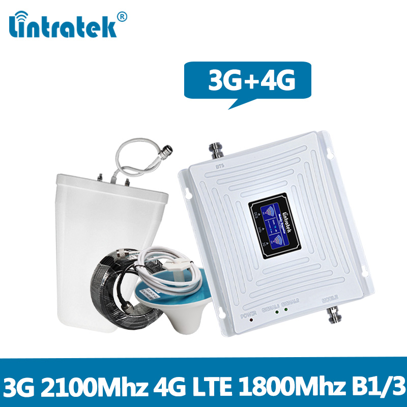 Signal Booster 3G Repeater 3G 4G Amplifier Mobile Phone GSM1800 DCS LTE 1800 2100mhz Band 1/3 CellPhone Cellular Booster @4.5