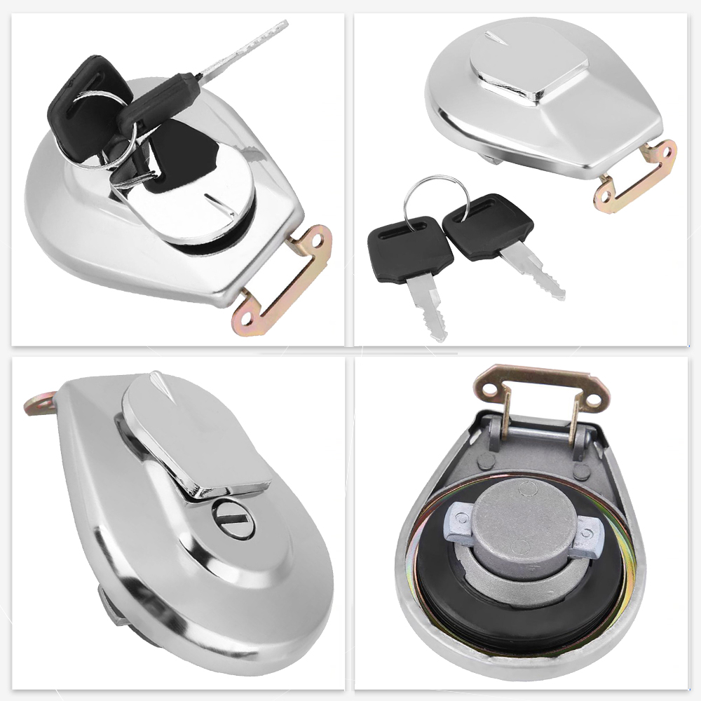 1x Stainless Steel Motorcycle Oil Fuel Tank Gas Cap Cover W 2pcs Keys For Honda-in Tank Covers from Automobiles & Motorcycles