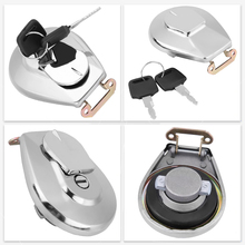 1x Stainless Steel Motorcycle Oil Fuel Tank Gas Cap Cover W 2pcs Keys For Honda