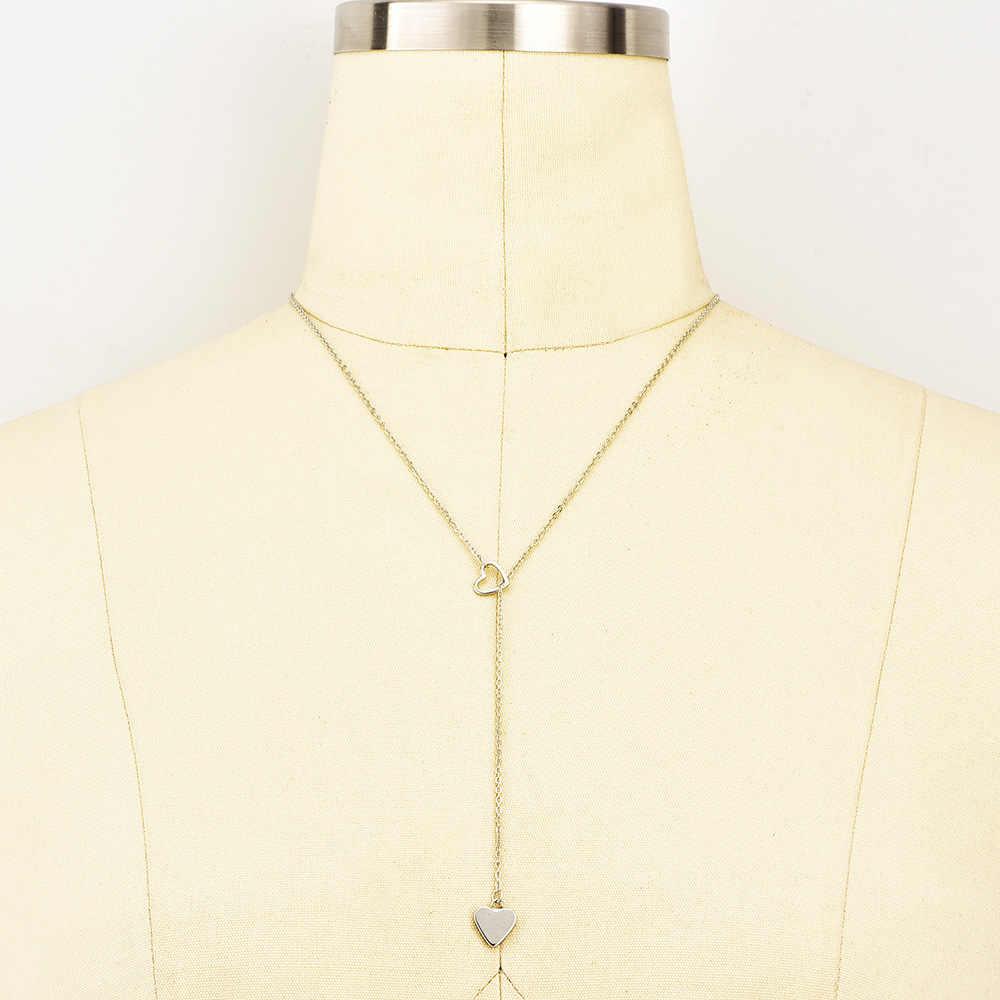 ใหม่แฟชั่นสร้อยคอสร้อยคอจี้หัวใจรักทองสร้อยคอผู้หญิงแฟชั่นสร้อยคอที่เรียบง่ายขายส่ง