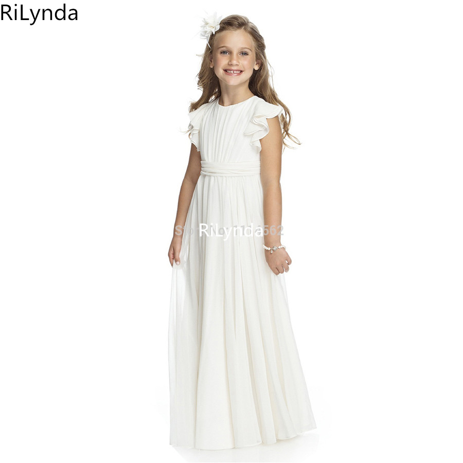 Flower Girl Dresses O-neck Appliques Short Sleeves Ball Gown Pageant Dresses Communion Gown for Wedding Custom Made Vestido