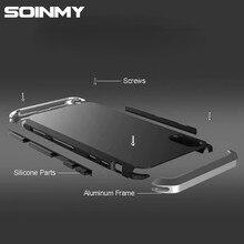 Противоударный металлический чехол для iphone xs max алюминиевый каркас Жесткий ПК Coque чехол для iphone 5 5S 6 6s 7 8 плюс x Xr Xs Max fundas