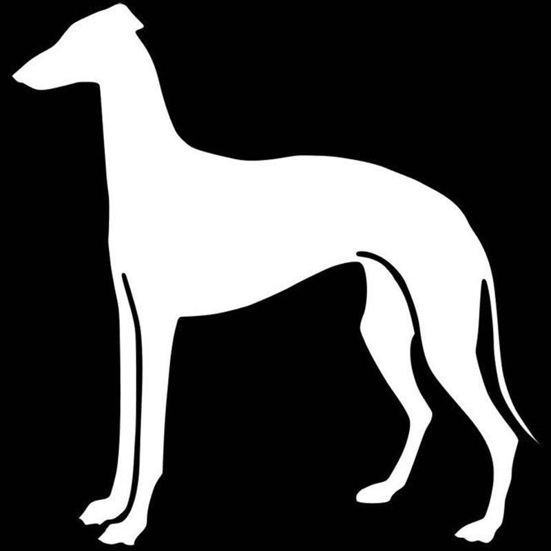 Car styling Greyhound Dog Car Styling Decoration Decal Fashion Window Decoration Cartoon Jdm