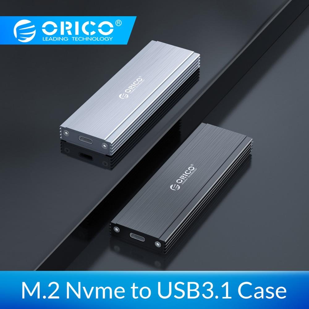 ORICO Nvme NGFF M.2 SSD Case 10Gbps USB C Hard Drive Enclosure With Type-C Cable Support UASP Trim Support Smart Sleep Function