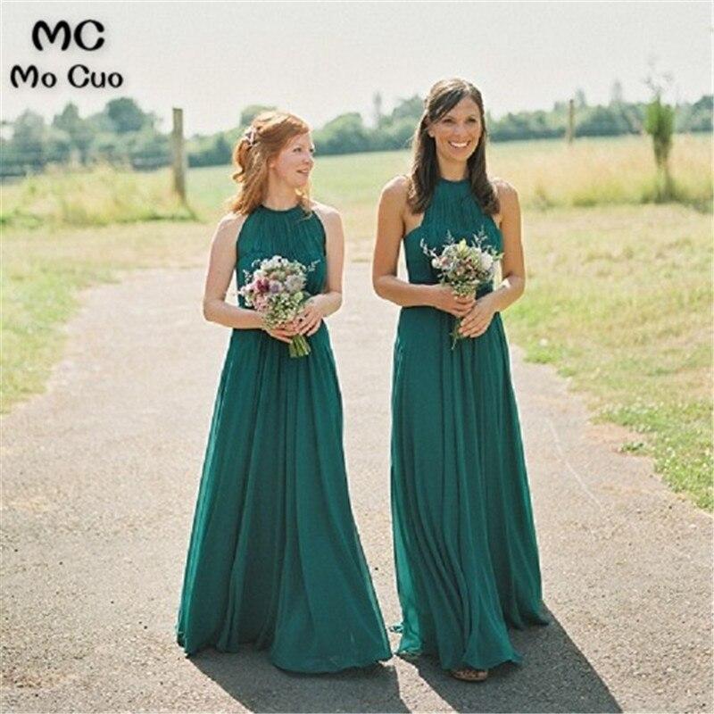 Off shoulder   Bridesmaid     Dress   Halter Prom Wedding Party   Dress   Maid of Honor vestido longo de festa Dark Green   Bridesmaid     Dresses