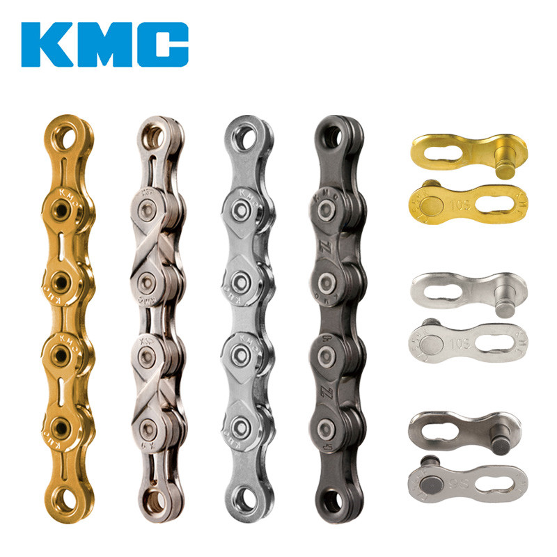 KMC 9/10/11 Speed Bike 116 Links Bicycle Chain With Missing Connect Link Silvery Golden Light MTB Road Racing Bike Accessories kmc missing link bicycle chain link 6 7 8s and 9 speed 10s 11s