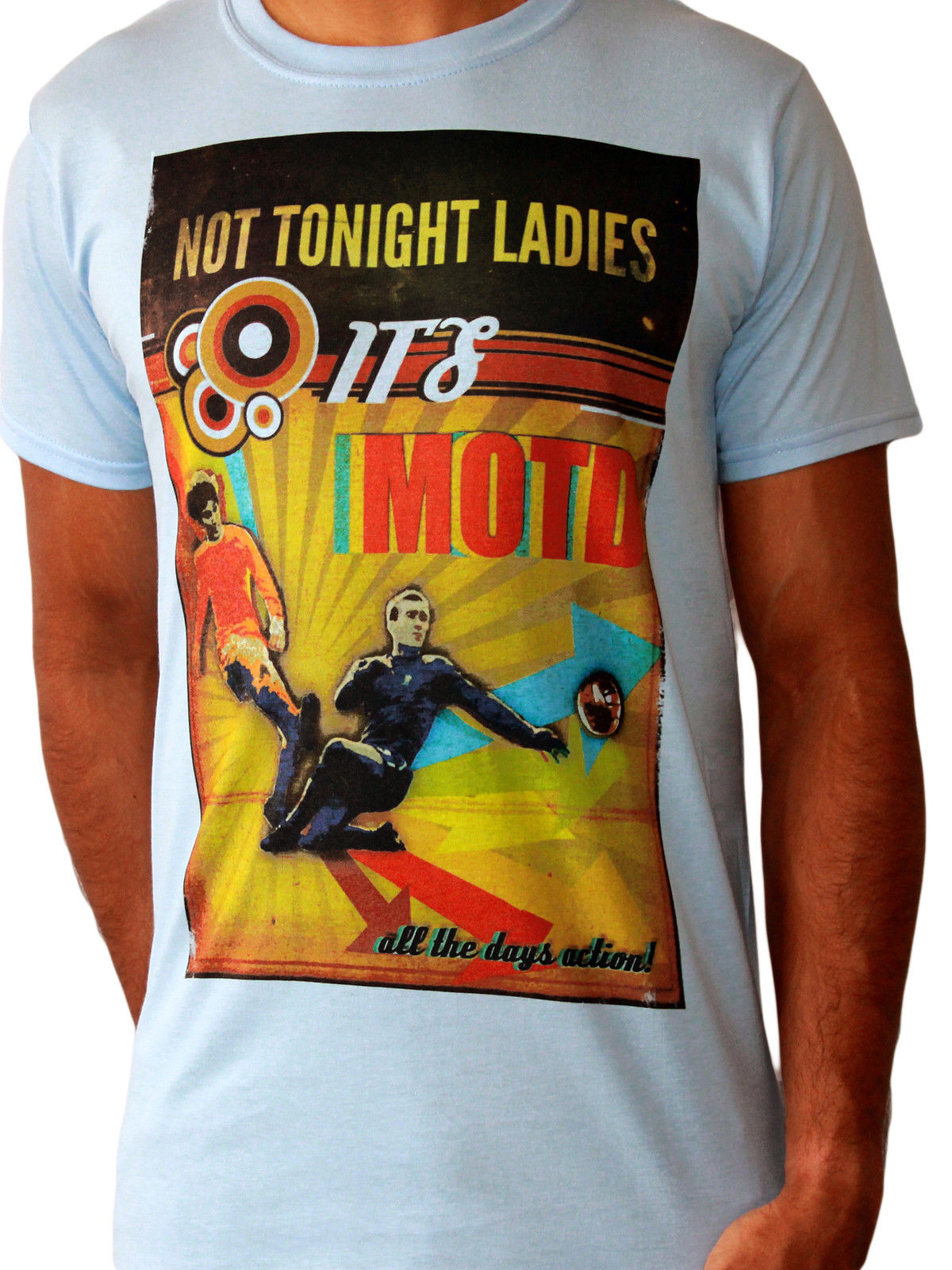 Not Tonight Ladies Its MOTD Playing 11 Footballer Premier League Blue Mens T-shirt ...