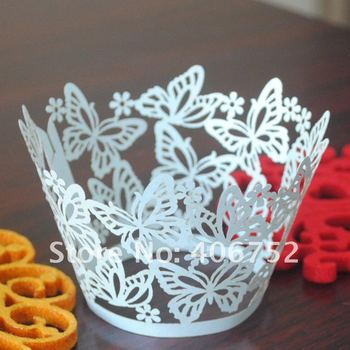 """Professional manufacturer!!Amazing""""dancing butterfly""""cupcake wrapper in various color MOQ 150pcs cupcake wedding cake stands"""