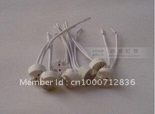 Free shipping Quartz lamp / MR11 MR16 G4 high temperature ceramic lamp halogen lamp bulb socket