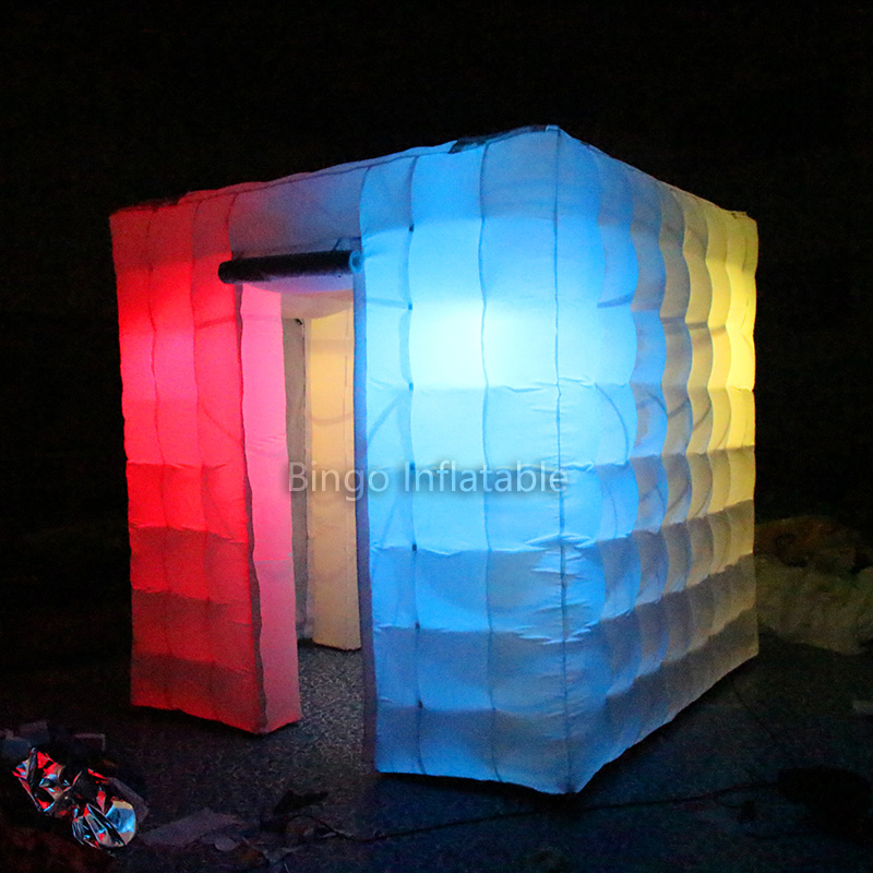 Portable Photo Booth 8ft * 8ft * 8ft Lighting Inflatable Cube Camping Tent with Free Blower Inflatable toys for children free shipping 3x3x2 4m inflatable photo booth cube inflatable photo booth led inflatable photo booth for sale