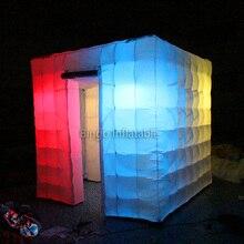 Портативный Photo Booth 8ft * 8ft * 8ft освещения надувные Куба палатка с Бесплатная нагнетателя воздуха надувные игрушки для детей