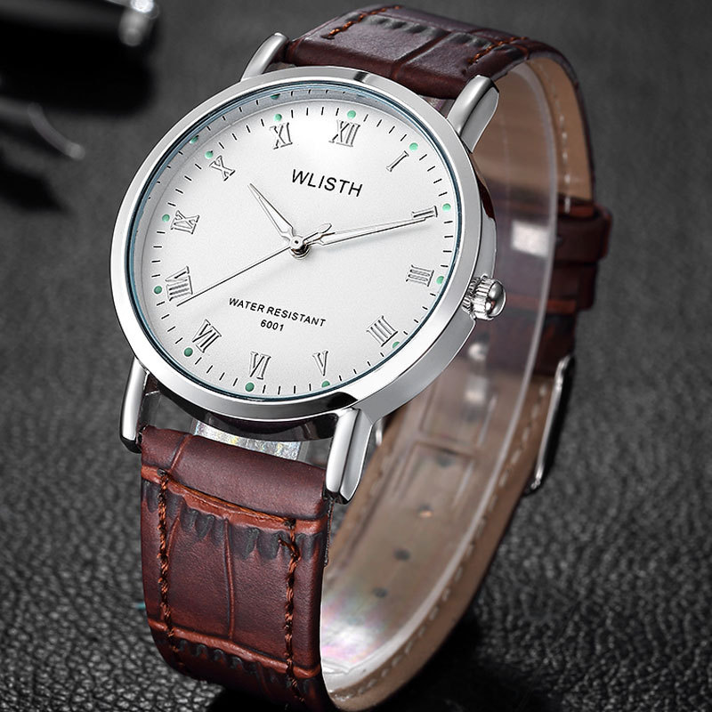 Relogio Masculino 2016 WLISTH Quartz Watch Men Brand Fashion Luxury Wrist Watches Casual Clock Leather Wristwatch Montre Homme mance luxury men s watches fashion brand dragon rome digital leather hollow dial quartz wrist watch relogio masculino time clock