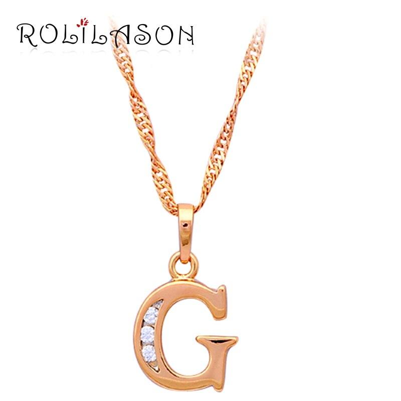 designer style letter g necklace