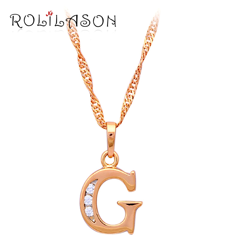 Letter 26 Design G Style Designer Wholesale Gold Tone Crystal Necklaces U0026  Pendants Pentagram Fashion Jewelry LN139 In Pendant Necklaces From Jewelry  ...