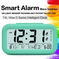 TXL smart Alarm Clock light sensor  Temperature Calendar Day display  Childern Digital clock Kids backlit nightlight auto dimmer|large digits|clock nightdigital alarm clock -