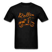 Roller Scooter Motorroller 50 80 125 Black Men Women T Shirt RETRO 60s Cool Tee KULT