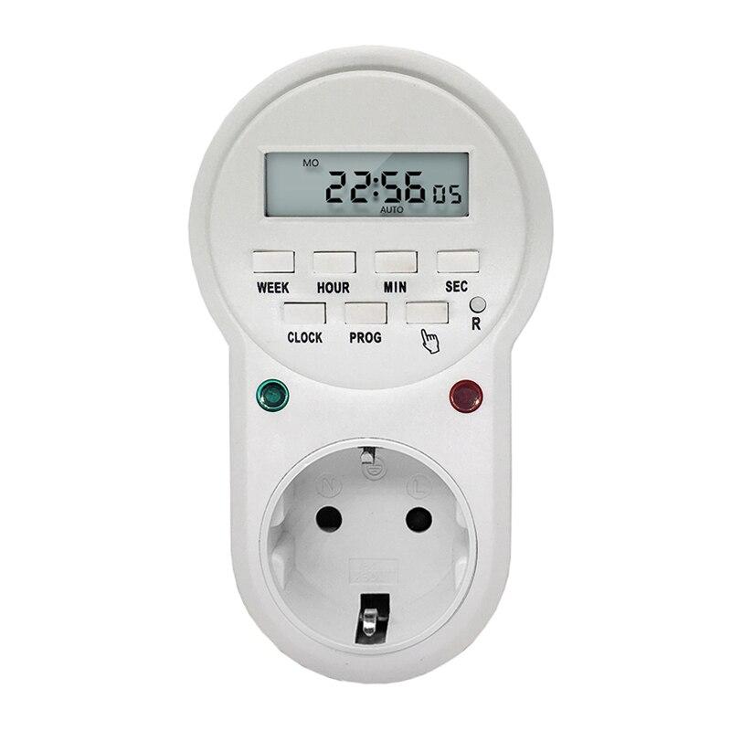 220 V 50Hz 16A 3600 Watt EU UNS UK Stecker Zeitschaltuhr Steckdose Digital LCD Power Timer Energy-saving Programmierbare Zeitschaltuhr Relais