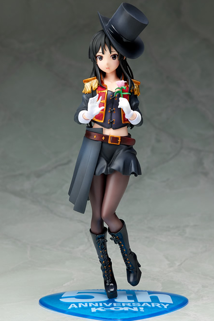 Anime K-ON! 5th Anniversary Akiyama Mio 1/7 Scale Painted PVC Action Figure Collectible Model Toy 22cm estel always on line спрей вуаль для придания бриллиантового блеска волос 250 мл