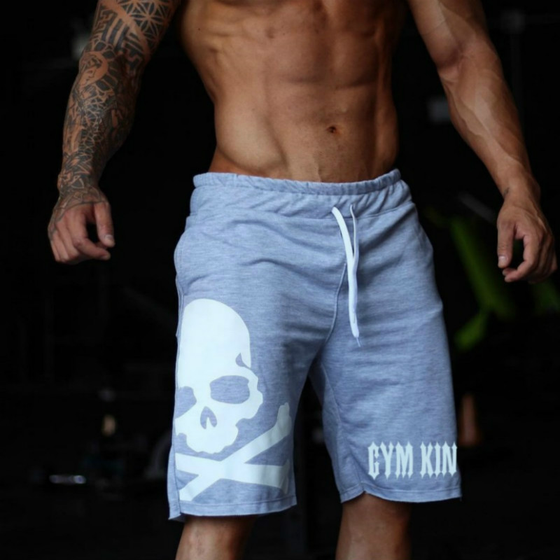 Brand Men Shorts Men's Short Trousers Fitness Bodybuilding Jogger Mens Shorts Durable Sweatpants Fitness Workout Cotton Shorts