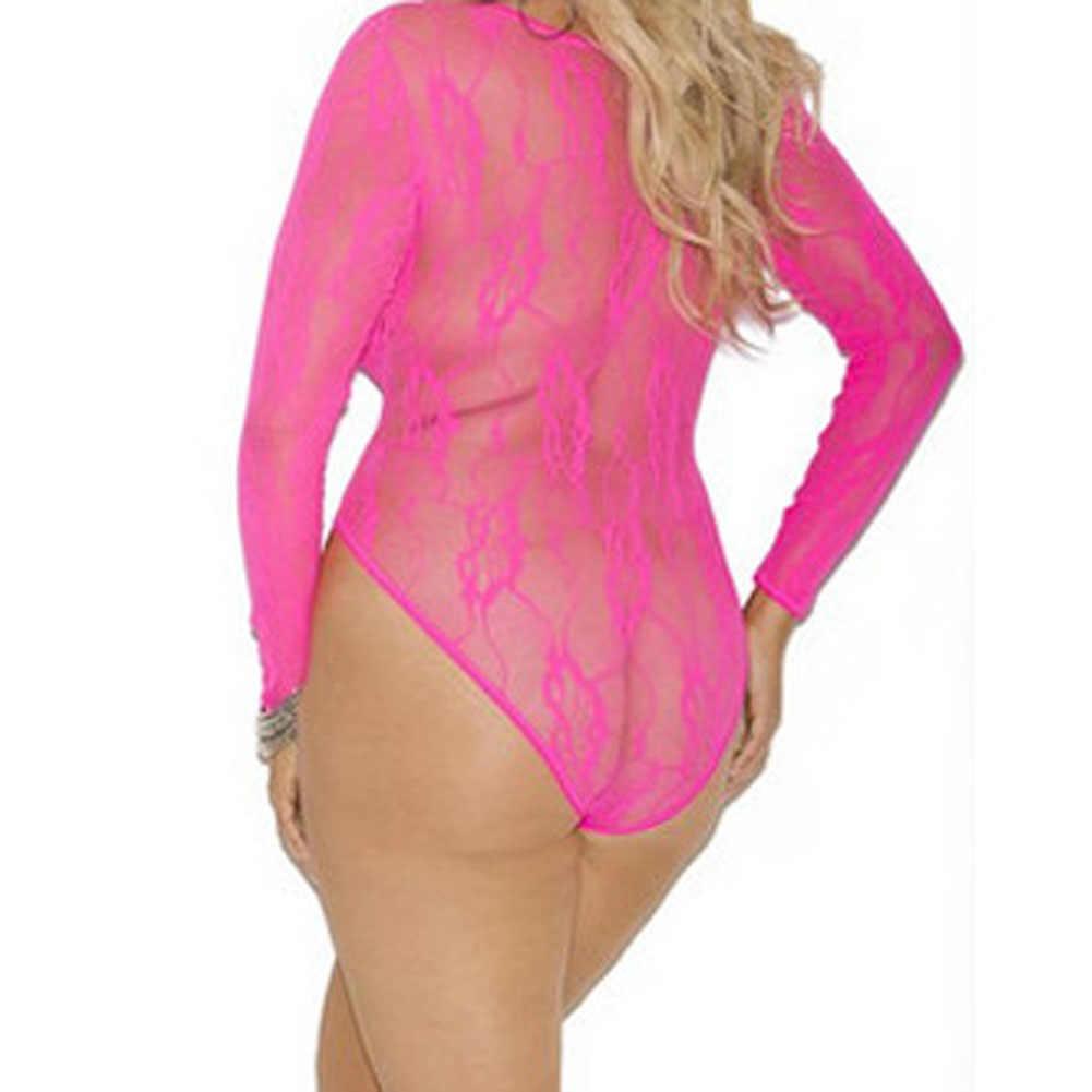 Sexy body kobiety luksusowa bielizna stringi cienkie paski drobna siatka kombinezon rozmiar sexy kostiumy-45