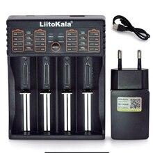 Умное устройство для зарядки никель-металлогидридных аккумуляторов от компании Liitokala: Lii402/Lii-202/Lii-100/1,2 V/1,5 V/3,7 V 18650/26650/18350/16340/18500/зарядное устройство для никель-кадмиевых или никель-металл-AAA зарядное устройство для никель-металл-гидридных и литиевых аккумуляторов Зарядное устройство 5V 2A штепсельной вилки