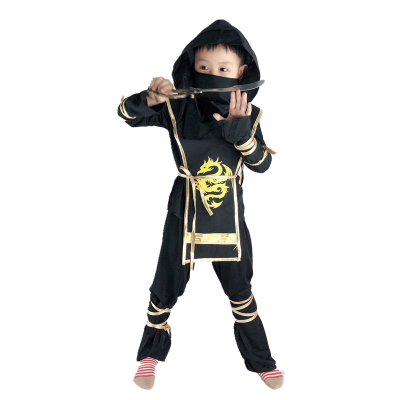 Children's day birthday party Boys Girls Kids Martial Arts Ninja Cosplay Costumes Halloween Fancy Party Warrior Clothes