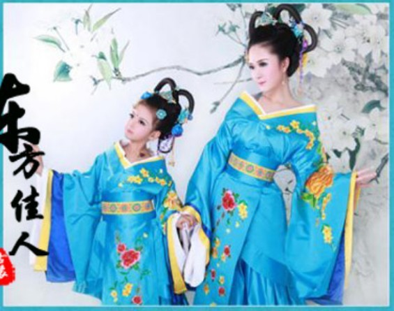 Lan Ling Qu Song of LanLing 2015 New Photo House Costume Mother-Daughter Costume Sets Tang Princess Costume Sets