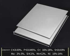 Image 2 - 316L Stainless Steel plate size 1*200*200mm metal Sheet Brushed surface