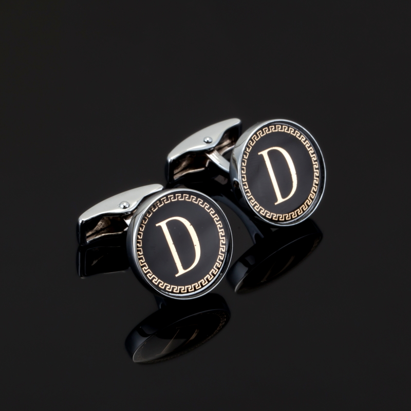 Luxury Fashion Letter M Cufflinks Round cufflinks for mens Brand cuff buttons Stainless Steel cuff links High Quality Jewelry