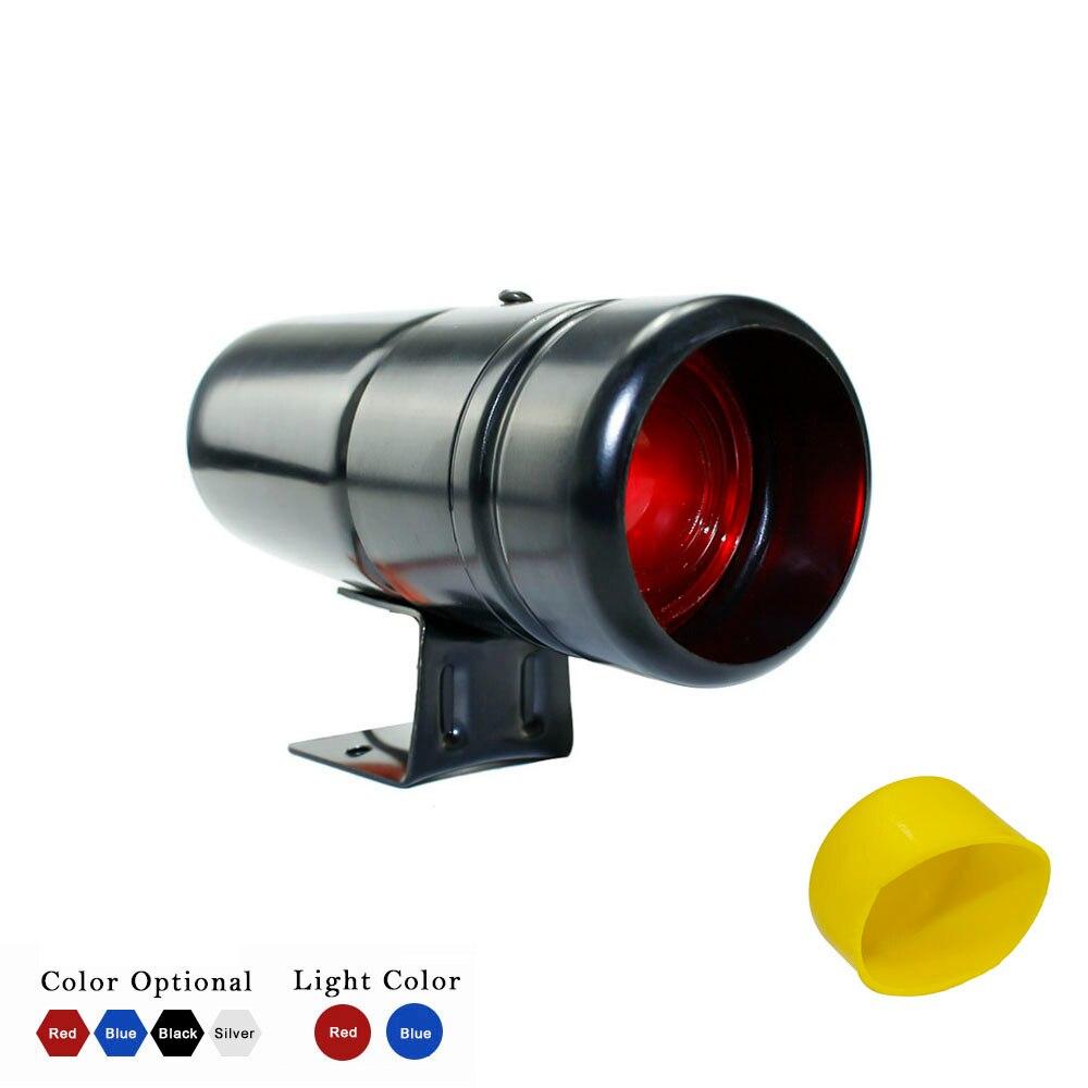 Medidor de tacómetro ajustable Universal 1000-11000 RPM Luz de cambio de advertencia rojo/azul LED lámpara de coche con cubierta Tach