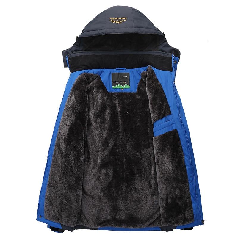 Men's Thick Fleece Winter Down Jacket Outwear Warm Coat Men Windproof Windbreaker Hood Jackets Men Down Parkas Plus Size 4XL 5XL